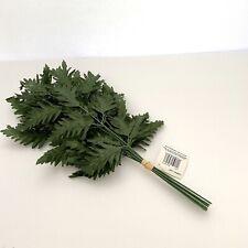 96 Silk Leather Leaf Fern Stems Make Memorial/ Cemetery Arranges/ Silk Greenery