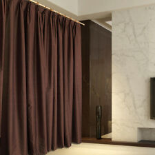 New Pair of Coated Blockout Curtains 2x200X230cm Chocolate Colour.AC029M