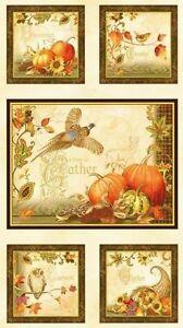 % Autumn Song Panel Patchwork Stoffe Herbst Patchworkstoffe Kürbis Baumwollstoff