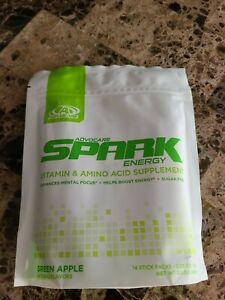 Advocare Spark Stick Packs - 14 count NEW Green Apple  - Free Shipping 🔥 🔥