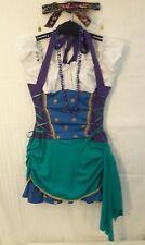 RENAISSANCE - Gypsy-Esmeralda-Blue-Purple-Gold Embellished Dress-Costume