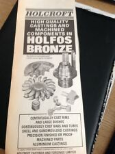 L3-7 Ephemera 1982 Advert Folded Holcroft Castings And Forgings Limited Rochdale