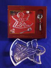 "Lenox Holiday ~ Crystal ""Angel"" Candy Dish W/ Bon Bon Spoon ~ Christmas Nib"