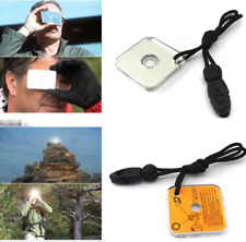 Unbreakable Mirror Rescue Flashing Signal Emergency Camping Survival Kits