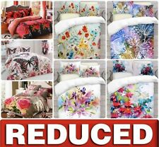 3D Floral Effect Complete Bedding Set Duvet Cover + Fitted Sheet + Pillowcases