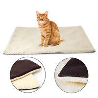 Pet Warm Fleece Cushion Bed Super Soft Self Heating Cat Dog Rug Mattress Thermal