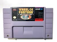 Wheel Of Fortune Deluxe Edition SUPER NINTENDO SNES GAME Tested WORKING!