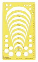 Traceease Geometric Drafting Circle Radius Template Drawing Stencil,-0TZ