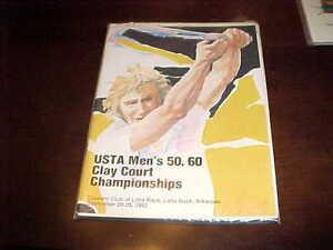 1982 USTA Men's 50 60 Clay Court Championship Tennis  Program