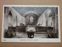 Lanteglos Church Interior 1910 Fowey KINGSWAY RP Vintage Real Photo Postcard WHS