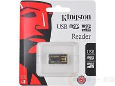 Kingston MicroSD memory Card reader adapter USB 2.0 Gen2 FCR-MRG2 SDHC SDXC tiny