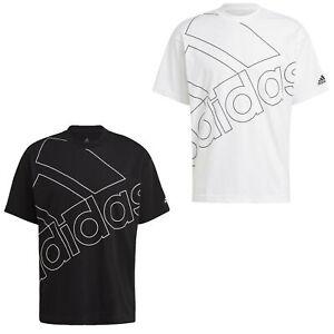 adidas T Shirt Herren Rundhals schwarz 100% Baumwolle weiss Männer
