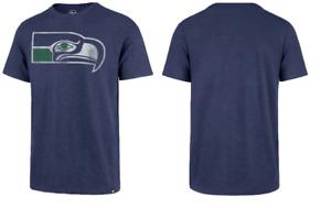 NWT Mens Seattle Seahawks Vintage Style '47 Brand T-Shirt NFL Football M/medium