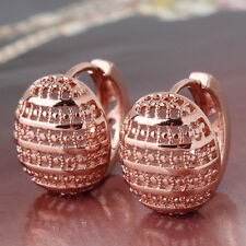 Anniversity couple gift 18K rose gold filled awesome Passionate hoop earring