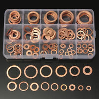 150PZ RONDELLE IN RAME ASSORTIMENTO SET 15 Sizes Solid Assorted Copper Washers