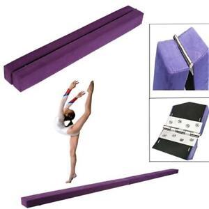 7FT/2,2M Gymnastik Schwebebalken Strapazierfähige Kunstleder Turnen Fitness DHL