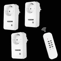 3er Set Funksteckdosen Fernbedienung HomeWizard kompatibel Funkschalter 1000W