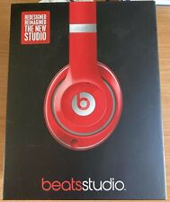 Genuine Beats by Dr Dre Studio 2 Red - Rechargeable Noise Cancelling Headphones