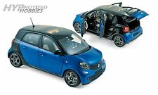 NOREV 1:18 2015 SMART FORFOUR DIE-CAST BLUE BLACK 183435