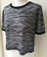 Victoria Sport T-Shirt EU38 UK10 cropped short sleeve stretch black active wear