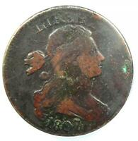 1807/6 Draped Bust Large Cent 1C Coin S-273 - ANACS VF20 Details - Rare Overdate
