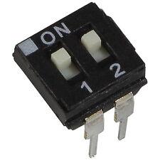 2 ECE EAH-102-EZ DIP-Schalter IC 2-polig 24V DC 25mA DIL Switch RM 2,54 855901