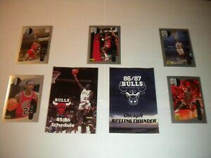 1985-86 1986-87 Michael Jordan Chicago Bulls Schedules pre-RC w 5 UD Stickers 🔥