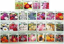 Set 50 Gardening Flower Seed Packets Plants Bulk Marigold Pinks Calendula Zinnia