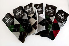 PESAIL RANDOM MEN'S 6 PAIRS ARGYLE DIAMOND SOCKS   Size 6-8 (39-42)