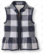 NWT Janie and Jack WOODLAND WEEKEND 7 8 Checked Peplum Vest