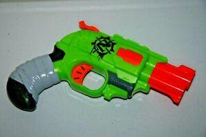 Zombie Strike Double Strike Nerf Blaster Used Good Condition Green Pistol Works!