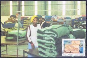 Transkei 1988 Maxi card, Raising the nap, Textile Industry, Horse