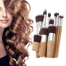 11 pcs Bamboo Handle Makeup Cosmetic Eyeshadow Foundation Concealer Brush Set JJ