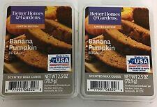 Better Homes & Gardens Scented Wax Cubes Banana Pumpkin Bread/ 2 Packs