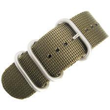 18mm deBeer Ballistic Nylon Green UTC Military One-Piece Dive Watch Band Strap