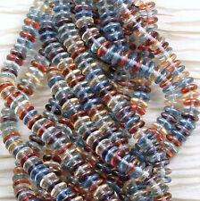 50pcs!!!  8mm LIGHT LUMINOUS MIX RONDELLE GLASS CZECH  Beads