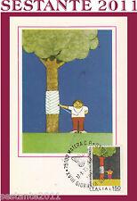 ITALIA MAXIMUM MAXI CARD 1976 SALVIAMO NATURA SCUOLA MEDIA BOSELLI SAVONA (140)