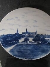 "Vintage Bucka & Nissen Kjobenhavn FREDERIKSBORG SLOT Plate 10"" Blue & White"