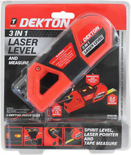 Niveau Maçon Laser Professional 3 en 1 DEKTON Ventouse Amovible & mètre á ruban