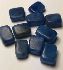 Sodalith: 10 abgerundete & polierte Nuggets -10-12mm Länge-blau-opak- 57 carat