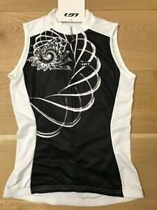 NWT Louis Garneau Women Medium Sleeveless Cycling Jersey White / Black