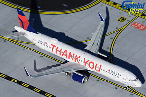 Delta Airbus A321 N391DN Thank You Gemini Jets GJDAL1927 Scale 1:400