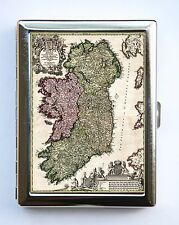 Ireland Map Cigarette Case Wallet Business Card Holder id case dublin