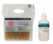 Salon System 6 Pack Roller Soft Wax Cartridges + Antiseptic Roller Head Cleaner