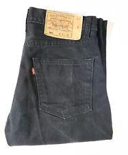 Levis 501 Original Fit Button-Fly Black Denim Jeans W30 L32 R11