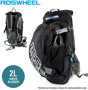 Roswheel 8L Cycling Hydration Pack with 2L Water Bladder - Black (46x21x10cm)