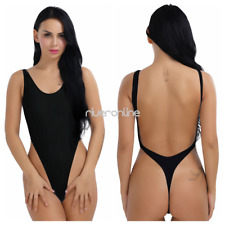 Womens Sexy One-piece High Cut Backless Swimwear Thong Leotard Bikini Swimsuit