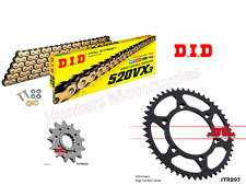 KTM 300EXC-F DID Gold X-Ring Chain and JT Sprockets Kit Set (2012 to 2017)