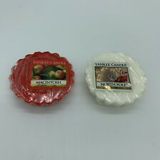 Yankee Candle Wax Tarts ~ North Pole & Macintosh Apple ~ Like Scentsy ~ Set of 2