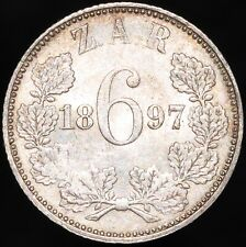 More details for 1897 | south africa 6 pence | silver | coins | km coins